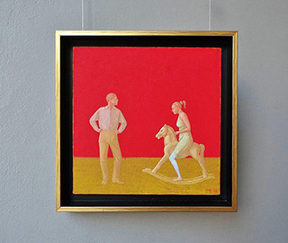 Mikołaj Kasprzyk : Horse riding lesson : Oil on Canvas