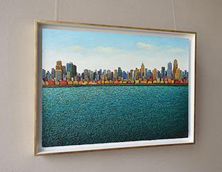Adam Patrzyk : City by the ocean : Oil on Canvas