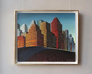 Adam Patrzyk : City on a hill : Oil on Canvas