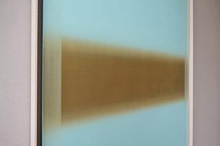 Anna Podlewska : Gold factor on blue : Oil on Canvas