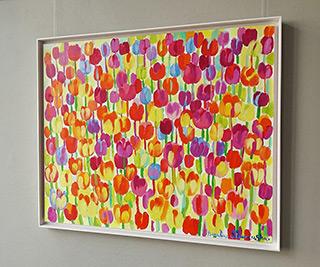 Beata Murawska : Techno tulips : Oil on Canvas
