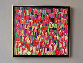 Beata Murawska : Tulips in Rome : Oil on Canvas