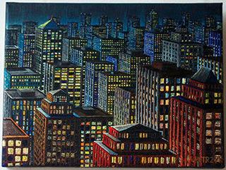 Adam Patrzyk : Lights : Oil on Canvas