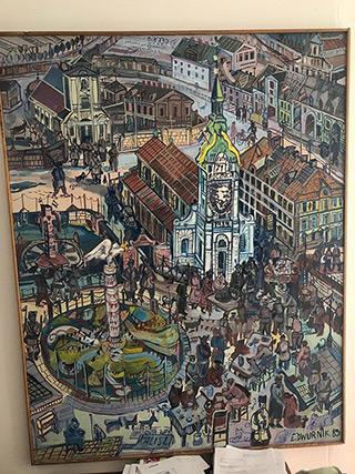 Edward Dwurnik : Kalisz : Oil on Canvas