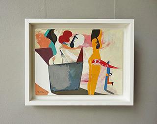 Jacek Cyganek : Women on the beach : Tempera on canvas