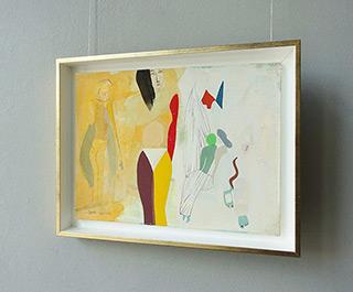 Jacek Cyganek : Women waiting : Tempera on canvas