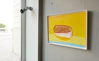 Jacek Łydżba : Boat on the beach : Oil on Canvas