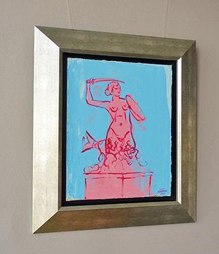 Jacek Łydżba : Pink mermaid : Oil on Canvas