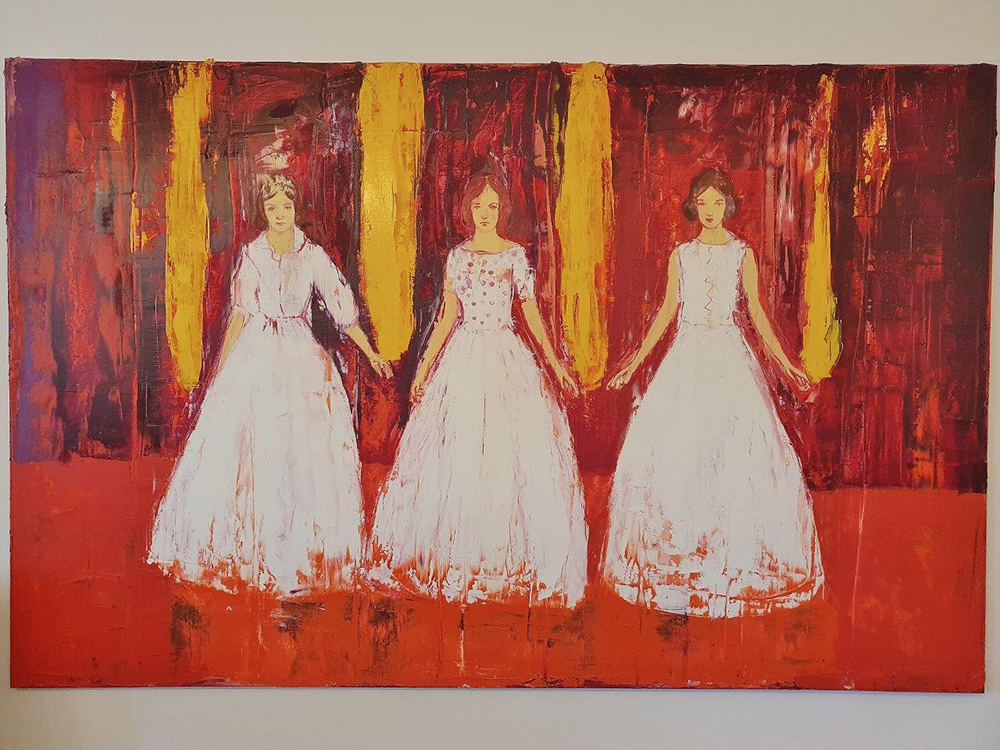 Jacek Łydżba : Three ladies in white
