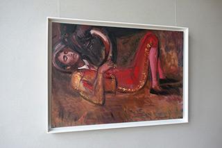 Katarzyna Karpowicz : Red Horn : Oil on Canvas