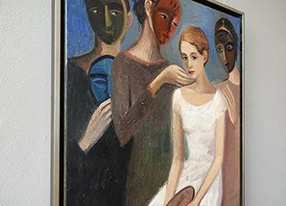Katarzyna Karpowicz : The girl in a white dress : Oil on Canvas