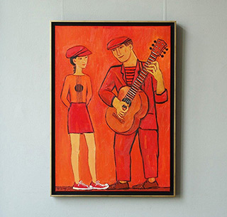 Krzysztof Kokoryn : Red duet : Oil on Canvas