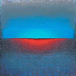 Sebastian Skoczylas : Blue space : Oil on Canvas