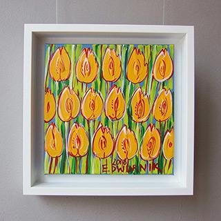 Edward Dwurnik : Yellow tulip No 1 : Oil on Canvas