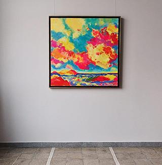 Beata Murawska : Show in the sky : Oil on Canvas