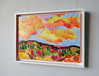 Beata Murawska : View from the terrace : Oil on Canvas