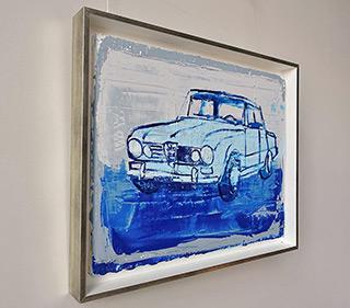 Jacek Łydżba : Blue alpha romeo : Oil on Canvas
