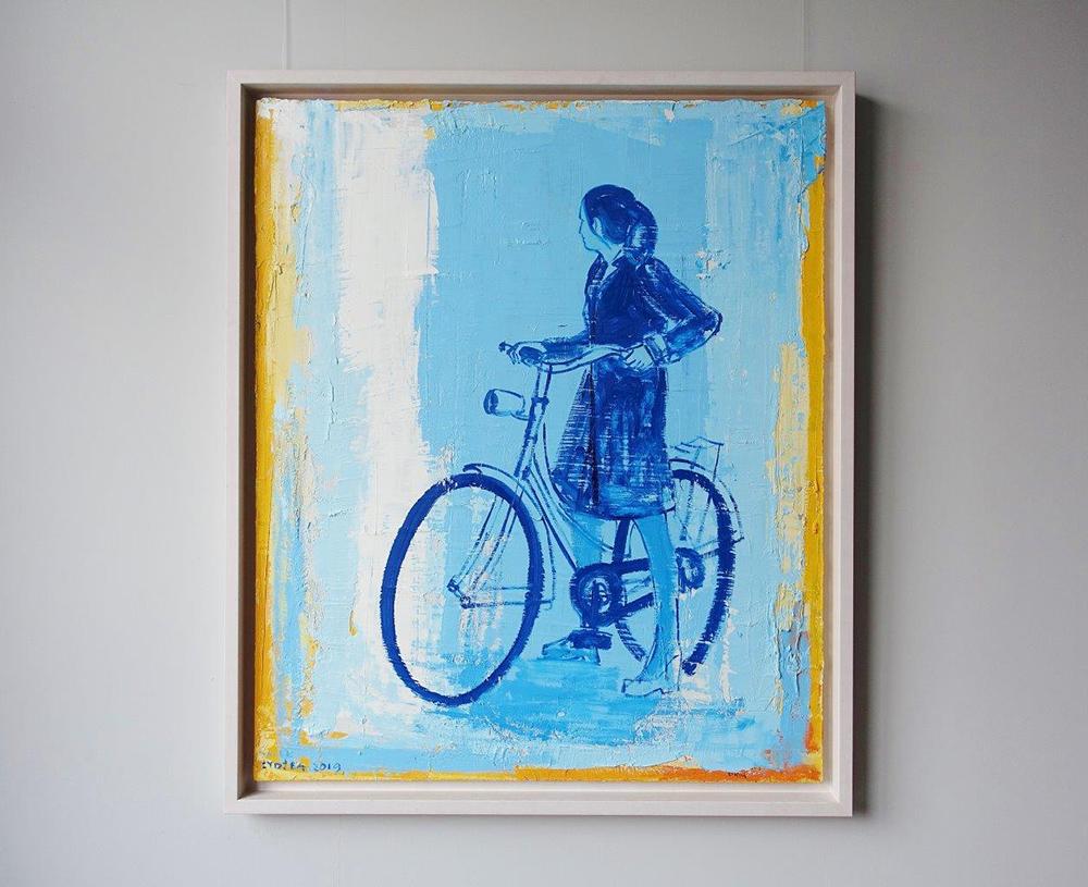 Jacek Łydżba : Blue cyclist