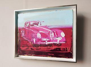 Jacek Łydżba : Purple alpha romeo : Oil on Canvas