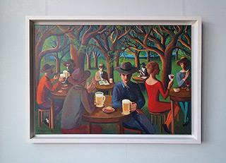 Katarzyna Karpowicz : Beer garden : Oil on Canvas