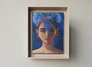 Katarzyna Karpowicz : Blue tree : Oil on Canvas