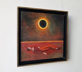 Katarzyna Karpowicz : Dream of solar eclipse : Oil on Canvas