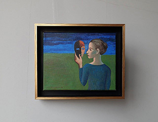 Katarzyna Karpowicz : Girl with the mask : Oil on Canvas