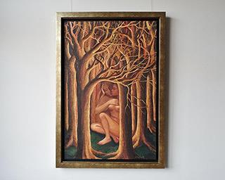 Katarzyna Karpowicz : Kiss in the forest : Oil on Canvas