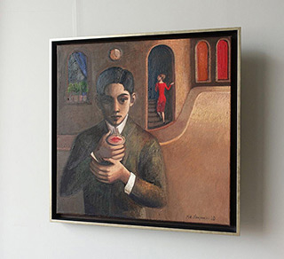 Katarzyna Karpowicz : Red lips : Oil on Canvas
