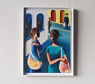 Katarzyna Karpowicz : Shopping : Oil on Canvas