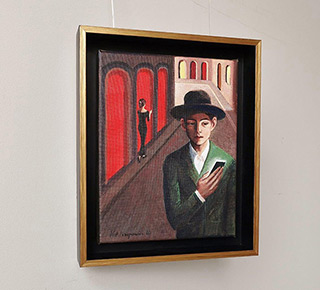Katarzyna Karpowicz : Waiting for a sign : Oil on Canvas