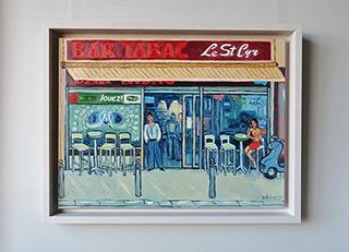 Krzysztof Kokoryn : Bar Tabac Le St Cyr : Oil on Canvas