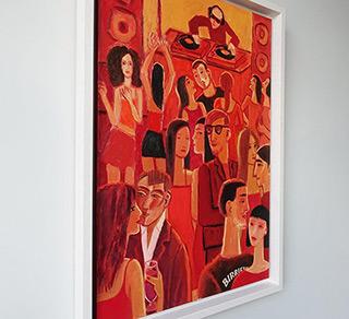 Krzysztof Kokoryn : Red party : Oil on Canvas
