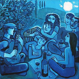 Krzysztof Kokoryn : Wine by the moon : Oil on Canvas