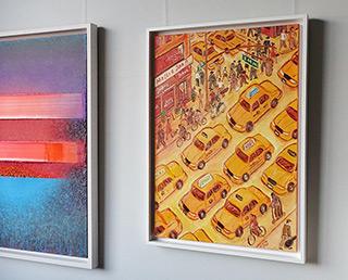 Krzysztof Kokoryn : Yellow cabs : Oil on Canvas