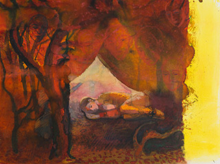 Katarzyna Karpowicz : Lullaby II : Mixed media on paper