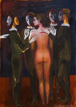 Katarzyna Karpowicz : Nude : Mixed media on paper