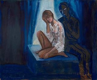 Katarzyna Karpowicz : Loneliness : Mixed media on paper
