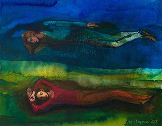 Katarzyna Karpowicz : We Dream of Each Other II : Mixed media on paper