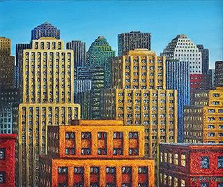 Adam Patrzyk : City detail : Oil on Canvas