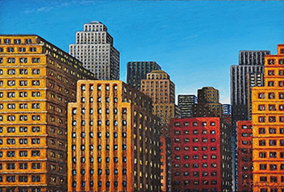 Adam Patrzyk : City in the morning : Oil on Canvas