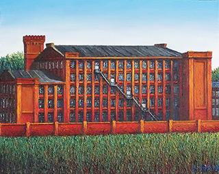 Adam Patrzyk : Red factory : Oil on Canvas