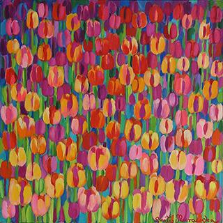 Beata Murawska : March garden : Oil on Canvas