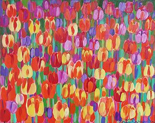 Beata Murawska : Reggae tulips : Oil on Canvas