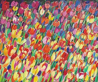 Beata Murawska : Tulip madness : Oil on Canvas