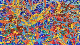 Edward Dwurnik : Abstract painting No 269 : Oil on Canvas