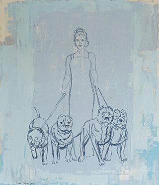 Jacek Łydżba : Beauty and the beasts : Oil on Canvas