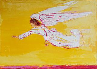 Jacek Łydżba : Engel : Oil on Canvas