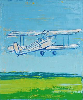Jacek Łydżba : Flight : Oil on Canvas