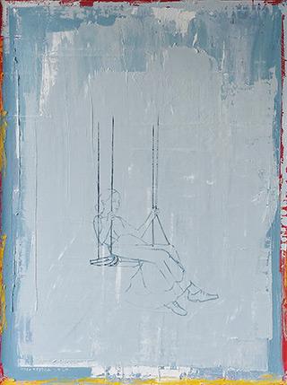 Jacek Łydżba : Swing : Oil on Canvas